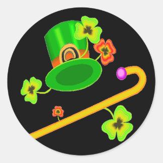 Happy Saint Patricks Day Classic Round Sticker