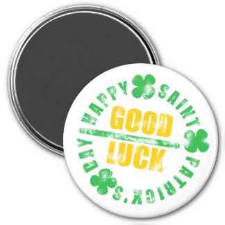 Happy Saint Patricks Day Good Luck 7.5 Cm Round Magnet