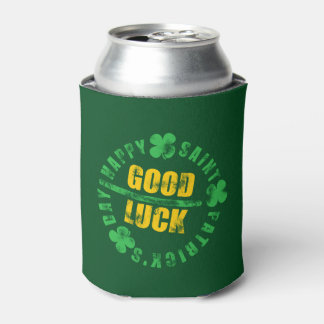 Happy Saint Patricks Day Good Luck Can Cooler