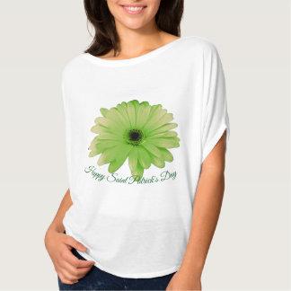 Happy Saint Patrick's Day Green Daisy accent T-Shirt