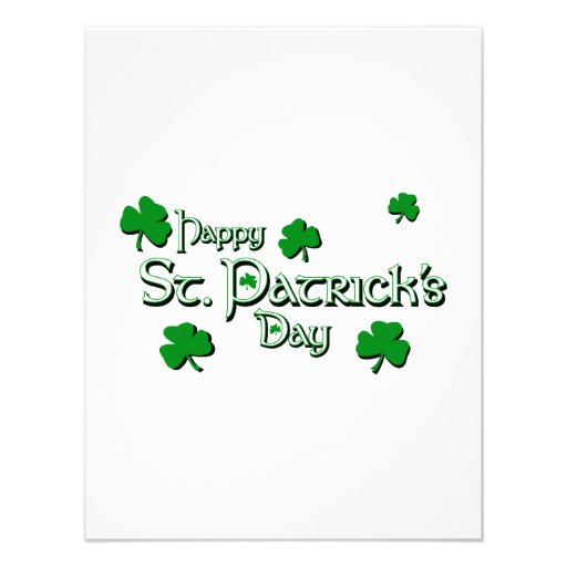 Happy Saint Patrick's Day Personalized Invitation