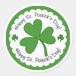 Happy Saint Patrick's Day Shamrock Stickers