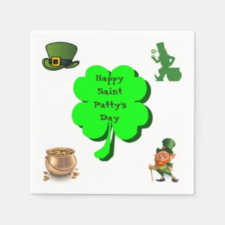 HAPPY SAINT PATTY'S DAY napkin Paper Serviettes