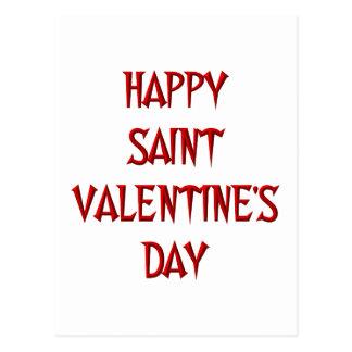 Happy Saint Valentine s Day Postcards
