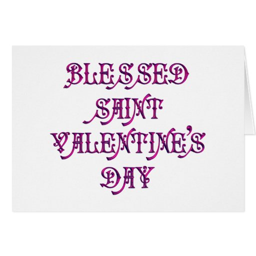 Happy Saint Valentine's Day Greeting Cards