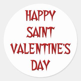 Happy Saint Valentine's Day Round Sticker