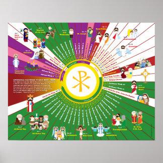 Happy Saints Liturgical Calendar 2018 Poster