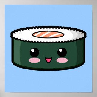 Happy Salmon Sushi Poster