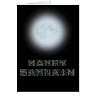 Happy Samhain Full Moon Card