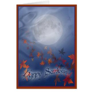 Happy Samhain Moon & Veil Card