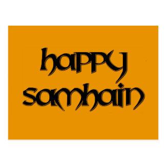 Happy Samhain Postcard