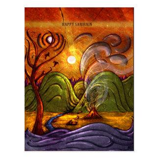 'Happy Samhain' postcard