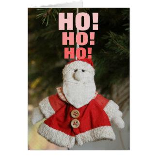 Happy Santa Christmas card, Ho! Ho! Ho! Greeting Card
