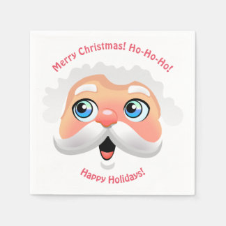 Happy Santa Claus Cartoon Paper Napkin