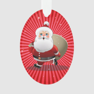 Happy Santa Claus Ornament