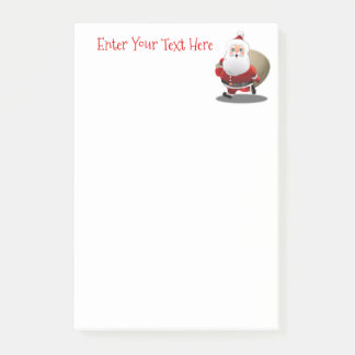 Happy Santa Claus With A Sack Full Of Gifts Post-it® Notes