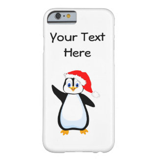 Happy Santa penguin Barely There iPhone 6 Case