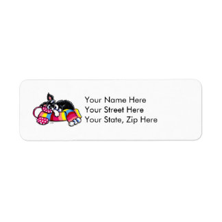 Happy Schnauzer Dreams Winter Return Address Label