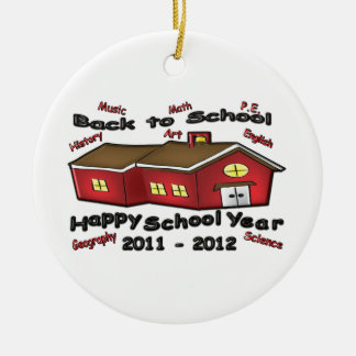 Happy School Year Ceramic Ornament