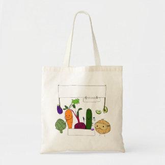 Happy Scientist Veggies Budget Tote Bag