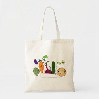 Happy Scientist Veggies - no banner Budget Tote Bag
