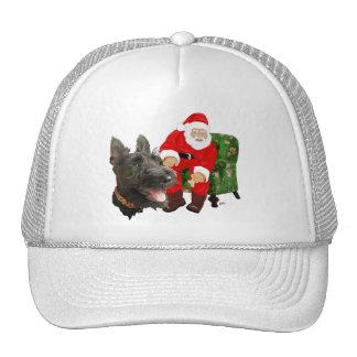 Happy Scottie and Santa Mesh Hats