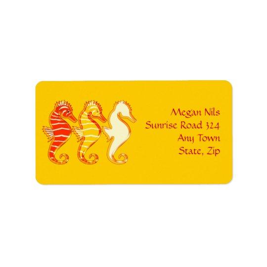 Happy Seahorses Address Label
