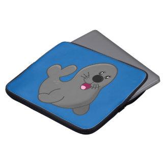 Happy seal laptop sleeve