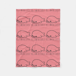 Happy Seal Pup Fleece Blanket