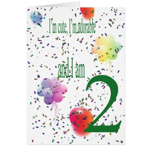 Happy Second Birthday Greeting Cards