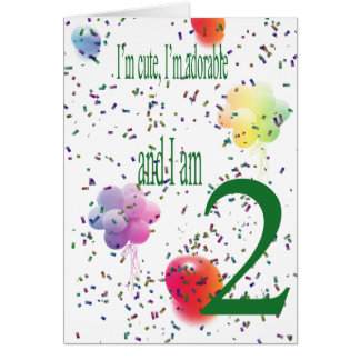 Happy Second Birthday Greeting Card