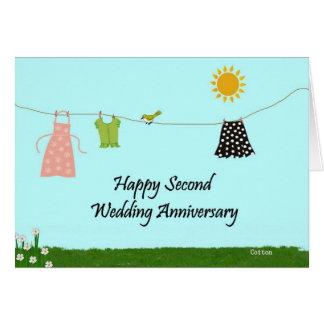 Happy Second Wedding Anniversary Card