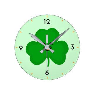 Happy Shamrock Clock