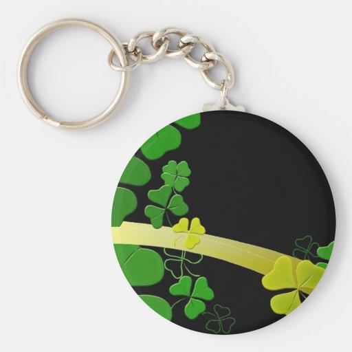 Happy Shamrock Keychains