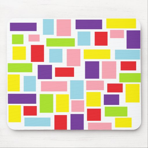 Happy Shapes Mouse Pads