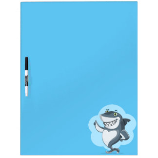 Happy shark dry erase board