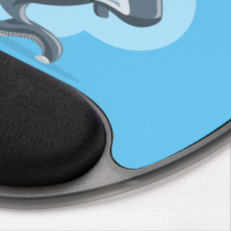 Happy shark gel mouse pad