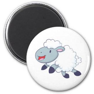 Happy Sheep 6 Cm Round Magnet