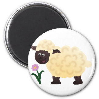 Happy Sheep Refrigerator Magnet