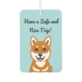 Happy Shiba Inu Cartoon Air Freshener