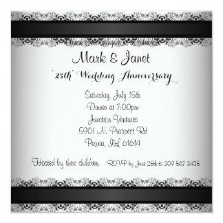 Happy Silver Anniversary 25 Years 13 Cm X 13 Cm Square Invitation Card