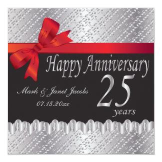 Happy Silver Anniversary | 25 Years 13 Cm X 13 Cm Square Invitation Card