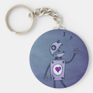 Happy Singing Robot Key Ring