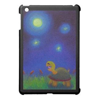 Happy singing turtle drawing cute fun art unique iPad mini case