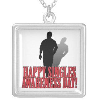 Happy Singles Awareness Day Text Design Custom Jewelry