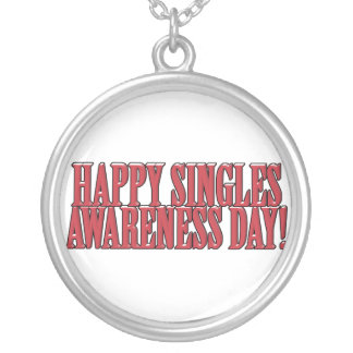 Happy Singles Awareness Day Text Design Personalized Necklace