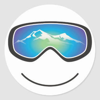 Happy Skier/Snowboarder Sticker