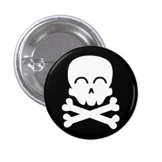 Happy Skull 3 Cm Round Badge