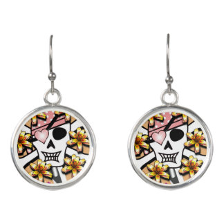 Happy Skull Earrings