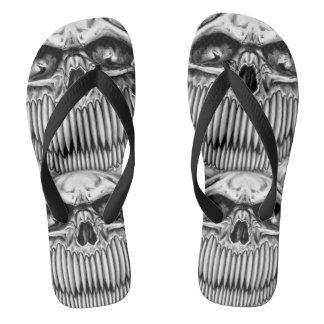 Happy Skull Flip Flops Thongs